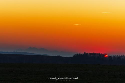 tym razem Tatry o zachodzie słońca...