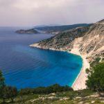 najsłynniejsza plaża Kefalonii - Myrtos